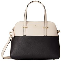 Kate Spade New York Cedar Street Maise ($298) ❤ liked on Polyvore featuring bags, handbags, shoulder bags, leather shoulder bag, structured handbag, kate spade, shoulder strap bag and top handle leather handbags