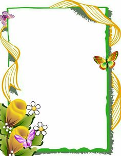U Frame Border Design, Boarder Designs, Page Borders Design, Design Page, Flower Backgrounds, Flower Wallpaper, Picture Borders, School Border, Boarders And Frames