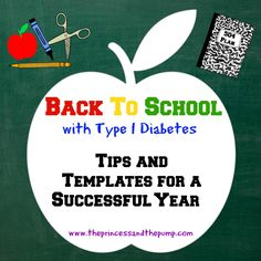 Sending your child with diabetes back to school can be scary and stressful!  You will find tips and templates for information sheets, 504 plans, and more at The Princess and The Pump!