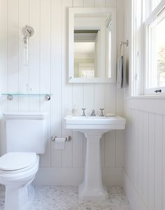 Rasmussen Construction - bathrooms - cottage bathroom, white cottage bathroom, beadboard bathroom, bathroom beadboard, vertical beadboard, b...