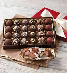 Dark Chocolate-Covered Luxury Collection by Harry & David - Mother's Day Gifts - Gourmet Gifts for Mom - Chocolate Delivery Dark Chocolate Truffles, Cadbury Chocolate, Chocolate Sweets, Chocolate Gifts, Homemade Chocolate, Chocolate Lovers, Hot Chocolate, Melting Chocolate, Alcohol Chocolate