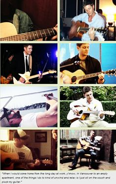 "[GIFSET] ""When I would come home from the long day at work, y'know, in Vancouver to an empty apartment, one of the things I do to kind of unwind and relax is I just sit on the couch and pluck my guitar."""