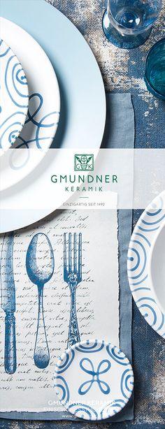 Gmundner Keramik Design Grüngeflammt - handbemaltes Geschirr seit 1492 #interior #einrichten #dishes #modern