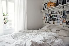 White and grey Stockholm apartment - bedroom - photos - light diy