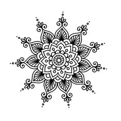 Best 11 40 Beautiful Mandala Drawing Ideas & How To – Brighter Craft – SkillOfKing. Henna Doodle, Mandala Doodle, Mandala Art, Doodle Art, Mandalas Drawing, Mandala Painting, Dot Painting, Mandala Pattern, Zentangle Patterns