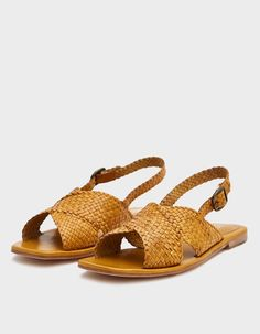 Mila Woven Sandal in Tan