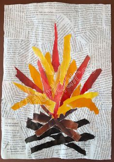 Kids Crafts, Diy Home Crafts, Fall Crafts, Best Fireworks, Fireworks Craft, Diy Paper, Paper Crafts, Kids Klub, Nursery Activities