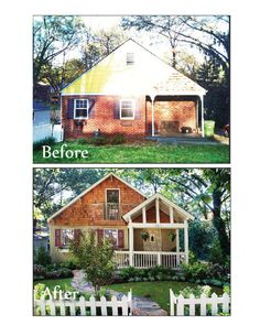 Before and After exterior facelift. I love it when a house is loved back to life!