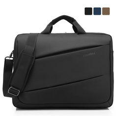 Amazon.com: CoolBell(TM)17.3 inch Unisex Laptop Shoulder Bag Waterproof Oxford Cloth with Strap Messenger tablet Bag Briefcase Multi-compartment Hand Bag For iPad Pro/Macbook/Dell Alienware For men/women(Black): Computers & Accessories