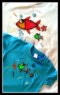 Camisetas pintadas a mano Artelanew