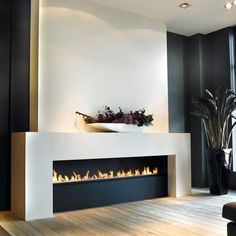 Modern and Sleek Contemporary Fireplaces - Fireplace Tile Design Ideas Photos,tile for Fireplace,installing Ledger Stone. Stone Tile Fireplace, Fireplace Tile Surround, Home Fireplace, Fireplace Surrounds, Library Fireplace, Fireplace Ideas, Modern Fireplace Tiles, Fireplace Mantels, Mantle