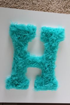 Wooden Nursery Letters - Handmade and Embellished 9 inch Wall Letters. $18.00, via Etsy.