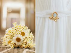 You should see if mom has a broach or some of her jewelry you can borrow to pin on your dress or wear. It's the something old, something new concept :)