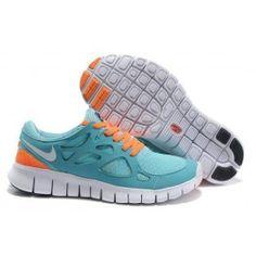Wholesale Nike Free Run+ 2 Lysblå Orange Unisex Sko Skobutik | denmarksko.com