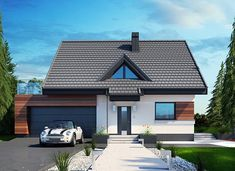 Lolek N 2G - zdjęcie 1 House Layout Plans, House Layouts, Modern Villa Design, Exterior Design, Home Projects, Tiny House, Gazebo, New Homes, Outdoor Structures
