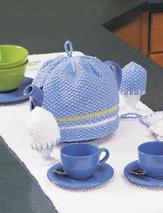 Yarnspirations.com - Lily Tea Cozy and Egg Cozy - Patterns  | Yarnspirations
