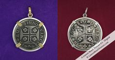 """INTRODUCING... The St. Salvador Wall Cache These stunning coins harken to the mid 1700's and bear the Crusader's Cross and the Latin phrase """"In Hoc Signo Vinces"""" - """"In this Sign Conquer."""" Rare and exquisitely detailed, they were the trade coin of the legendary Portuguese explorers."""
