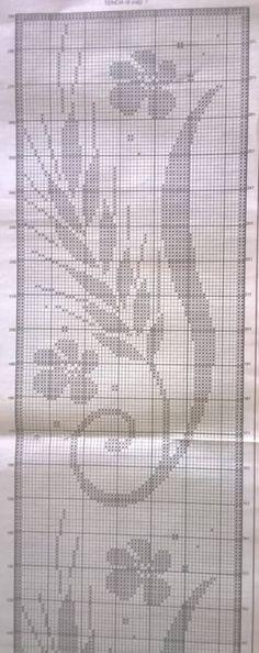 Gallery.ru / Фото #90 - Flowers 2 - gabbach Cross Stitch Books, Counted Cross Stitch Patterns, Crochet Table Runner Pattern, Crochet Curtains, Irish Lace, Filet Crochet, Design, Cross Stitch Fruit, Crochet House