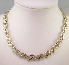 Signed Monet Gold Tone Vine Necklace 1955-60s by thejeweledbear on Etsy