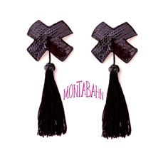 Burlesque Pasties Black X Crosses Cross Suicide Girl by Montabahn, $36.00