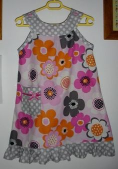 30-minute Tea time Dress Tutorial--reminds me of the snappy toddler dress, this one has dimensions for 5-7 year old size.