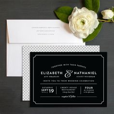 Classically Framed Wedding Invitations by Sandra Picco Design | Elli