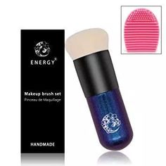 ENERGY Foundation Brush Chubby Makeup Brush Premium Dense Bristles with Dreamy Star Handle Portable Makeup Cosmetic Tool with 1 Makeup Brush Cleaner/Brush Egg Best Liquid Foundation Brush, Perfect Foundation, No Foundation Makeup, Makeup Brush Cleaner, Makeup Brush Set, It Cosmetics Brushes, Makeup Cosmetics, Coastal Scents Brushes