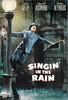 Singin' in the Rain with Gene Kelly, Debbie Reynolds and Donald O'Connor Gene Kelly, Old Movies, Vintage Movies, Great Movies, The Rain Movie, Movie Tv, Classic Movie Posters, Classic Movies, Streaming Vf
