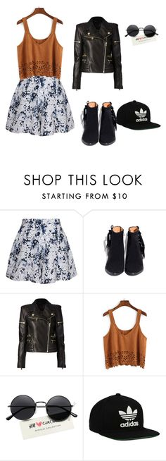 """""""##"""" by gigi-xcx-493 ❤ liked on Polyvore featuring beauty, Olive + Oak, Balmain and adidas Originals"""