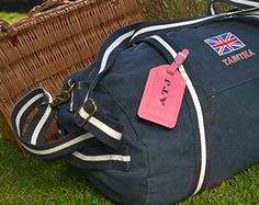 Canvas weekend bags are ideal for summer hols.  These are also the right size for Ryanair's maximum hand luggage - handy!