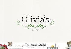 Watercolor Leafy Logo Design – The Paris Studio – Creative Logo Design Branding NYC – Paris