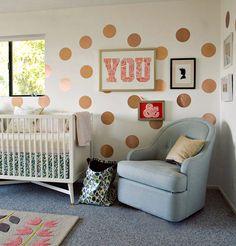 rose gold polka dots