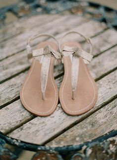 Gorgeous glitter bridal sandals