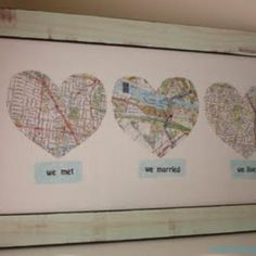 """road map of love"" -- ""we met"" ""we married"" ""we live"" @Laura Butler @Aaron Noble @Emily Hagen"
