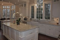 Superb Super White Granite look New York Traditional Kitchen ...