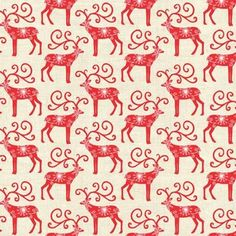 Scandi Reindeer Red Fabric from Makower / quilt Christmas decorations vintage Scandinavian Holidays, Cabin Christmas, Christmas Sewing, Christmas Fabric, Scandinavian Christmas, Christmas Love, Christmas Projects, Xmas, Homemade Christmas