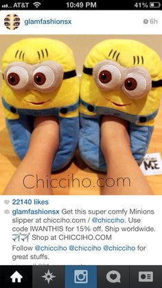 Minion slippers! want these!!!!!!!!!!!!!!!!!!!!!!!!!!!!!!!!!!!!!