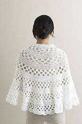 Ravelry: Half Moon Shawl #70474AD pattern by Lion Brand Yarn