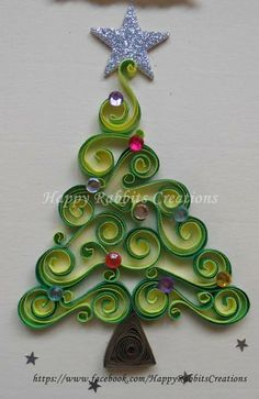 Quilling Christmas Tree - just. Paper Quilling Patterns, Origami And Quilling, Quilling Paper Craft, Paper Crafts, Paper Quilling Tutorial, Quilling Ideas, Quilling Christmas, Christmas Paper, Quilled Creations