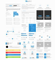 A nice blue white ui kit.
