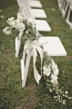42 White Wedding Decoration Ideas Be creative when decorating your Big day. Take a look at addorable white wedding decoration ideas in our gallery! All White Wedding, White Wedding Flowers, Mod Wedding, White Flowers, Floral Wedding, Wedding Ceremony, White Weddings, Trendy Wedding, Aisle Flowers