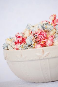 red white and blue popcorn!