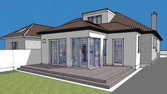 Top Bungalow Home Renovation Ideas Bungalow Interiors, Bungalow Renovation, Bungalow Homes, Bungalow Extensions, House Extensions, Bungalow Pictures, Bungalow Ideas, Bungalow Loft Conversion, Roof Styles