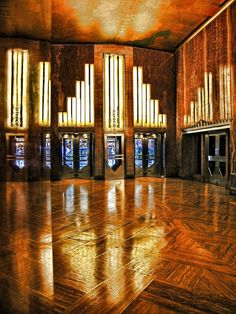 The lobby of the Chrysler Building, 1930.