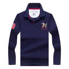 Men's Fashion Embroidery LOGO POLO Shirt Casual Business Lapel T-shirt at Banggood
