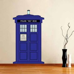 Full Color Wall Decal Mural Sticker Doctor Who Tardis Police Public Call Box Removable