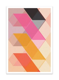 CUBI VIGNETTE no.11 - Giclee Print - Mid Century Modern Danish Modern Minimalist Cube Modernist Eames Abstract