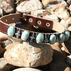 Faux Paw beaded dog collars