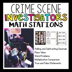 Set the stage to engage with these 6 CSI themed math rotations. Have your students become detectives and work through problems involving adding and subtracting decimals. place value, fact fluency, word problems, and more. Go all out or just print the contents.