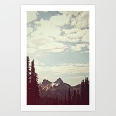 Vintage Mountain Ridge Art Print by Kurt Rahn - $16.00